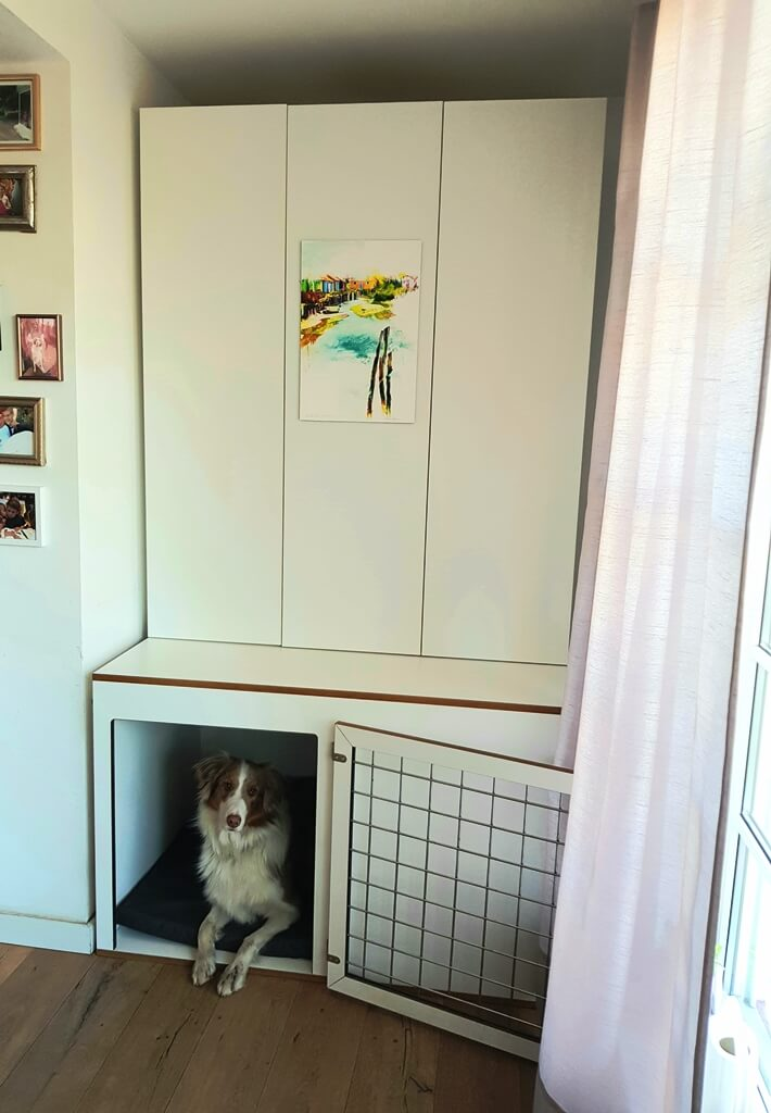 Hundebox Weiß Möbeltischler Köln